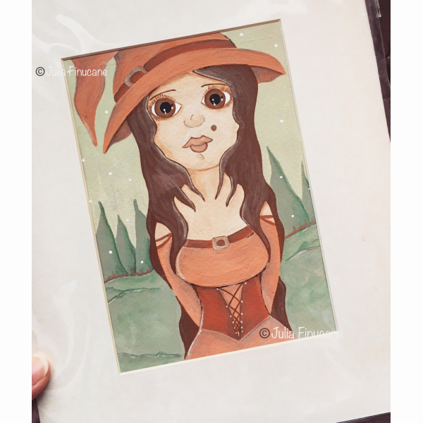 Original painting of a witch
