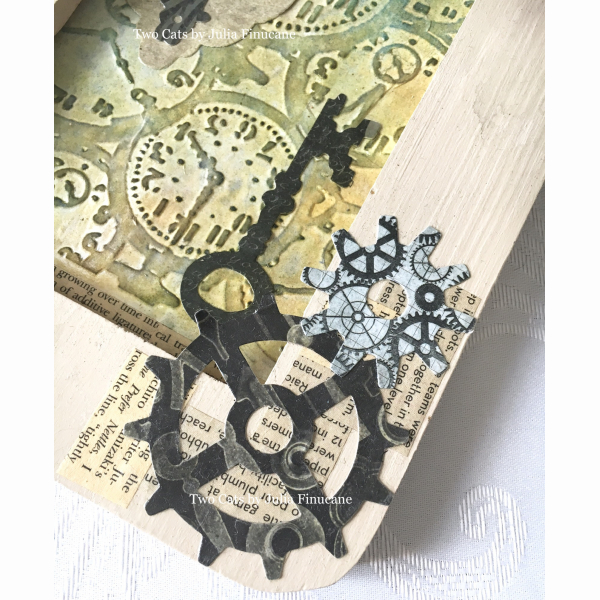Steampunk Mixed Media Original Painting