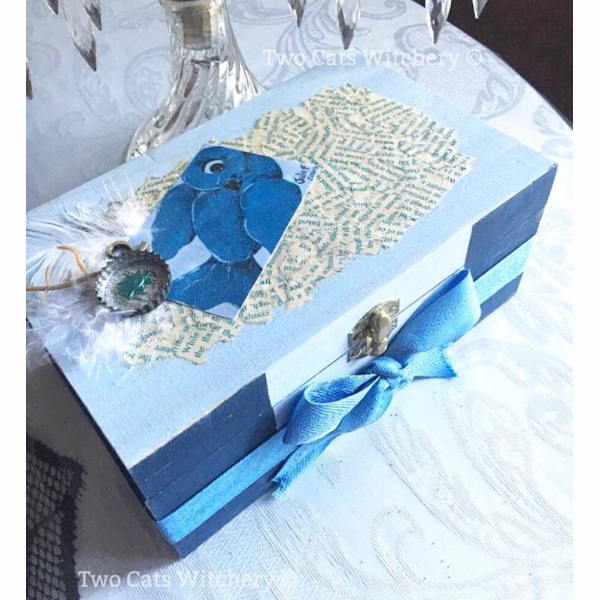Bluebird jewelry box original art