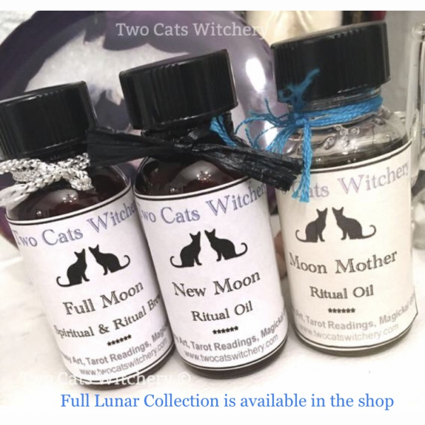 Lunar moon oil collection, moon spell oils