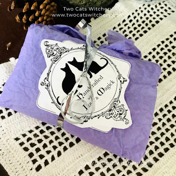package from witch gift shop two cats witchery