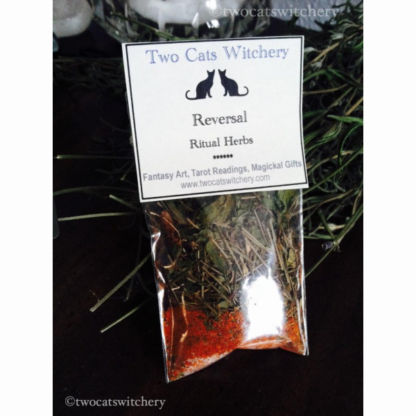 Reversal Spell Herbs in a bag