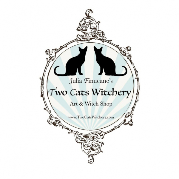 two cats witchery shop logo