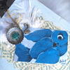 Bluebird trinket box original art