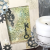 Steampunk Mixed Media Original Painting With skeleton key