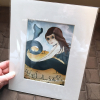 Art print of a mermaid