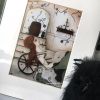 A rag doll with stitches art print