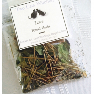 bag of love spell herbs