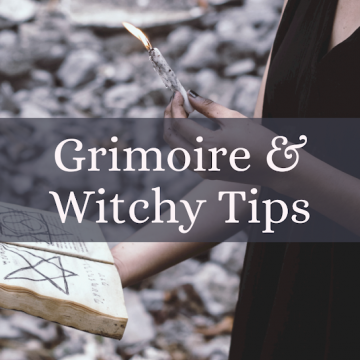 Grimoire and Witch Tips by Two Cats Witchery