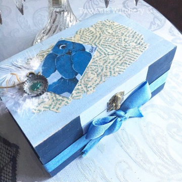 Bluebird Jewelry Box / Original Hand Painted Trinket Box / Whimsical Bird Art / OOAK Gifts for Her
