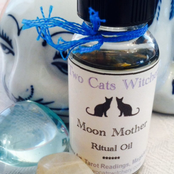Moon Mother Oil. 1 oz Bottle, Lunar Collection, For Moon Magick and to Honor the Moon Goddess
