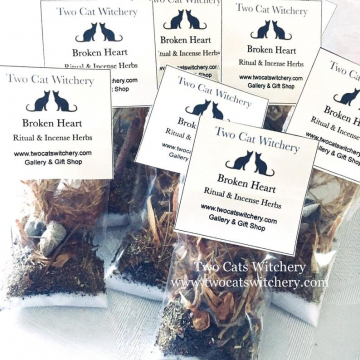 Broken Heart Ritual Herbs 3x3 inch bag / All Natural Loose Herb Spell Incense