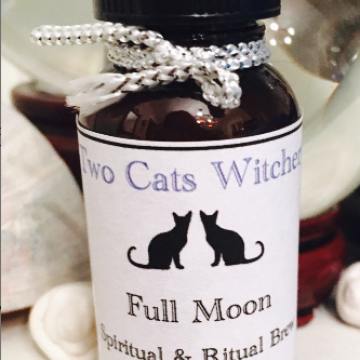 Full Moon Ritual Oil 1 oz / Handcrafted Lunar Magick Spell Supply / Drawing Down the Moon Feminine Energy Witch Oil Blend