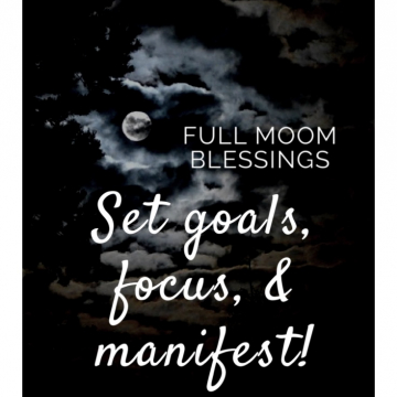 Full Moon Blessings / Two Cats Witchery / Witch and Witchy Tips