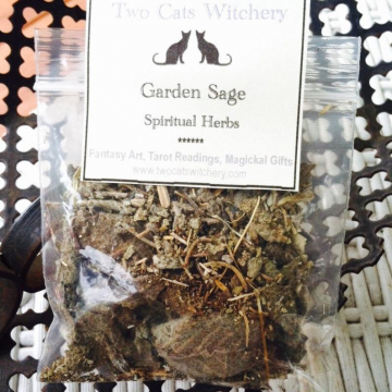 Garden Sage Energy Cleansing Herbs 3x3 inch bag