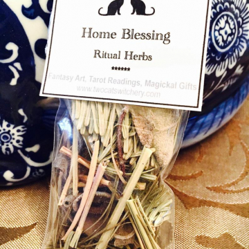 Home Blessing Smudge Herbs 2x3 inch bag / All Natural Smudging Incense with Sage, Sweetgrass, and Pine