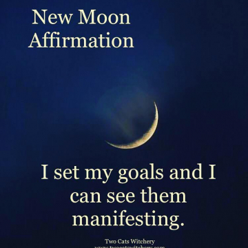 New Moon Affirmation / Two Cats Witchery / Witch and Witchy Tips