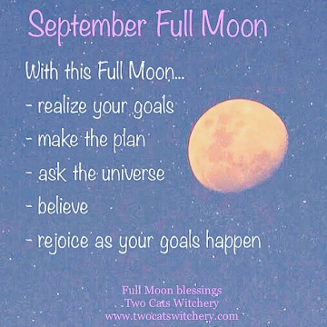 Full Moon Blessing / Two Cats Witchery / Witch and Witchy Tips