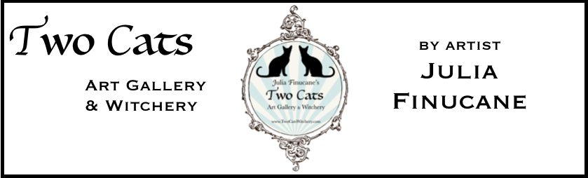 two cats witchery logo and banner